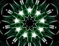 Abstract extruded mandala 3D illustration 9 sided star
