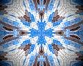 Abstract extruded mandala 3D illustration