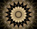 Abstract extruded mandala