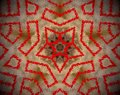 Abstract extruded mandala 5 sided star