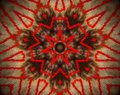 Abstract extruded mandala 7 sided star