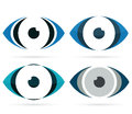 Abstract eye icon multicolored part of the face illustration Stock Photography