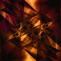 Abstract facet background in shiny orange tones Royalty Free Stock Image