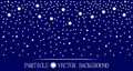 Abstract falling snow particles dark blue background Royalty Free Stock Photo