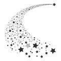 Abstract Falling Star Vector Royalty Free Stock Photo