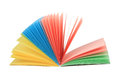 Abstract fan-like open multicolor notepad Royalty Free Stock Image