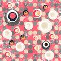 Abstract fancy circular illustration design Royalty Free Stock Photo
