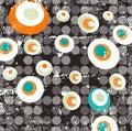 Abstract fancy circular illustration raster design Royalty Free Stock Photo