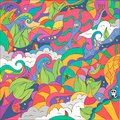 Abstract fantasy drawing colorful art vector background