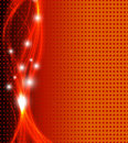 Abstract fantasy orange background full editable vector illustration Stock Image