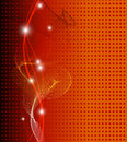 Abstract fantasy orange background full editable vector illustration Stock Photography