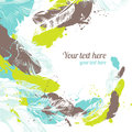 Abstract feather background hand drawn Royalty Free Stock Images