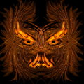 Abstract fiery demon Stock Images