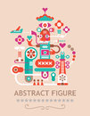 Abstract figure vector composition with text Stock Photos