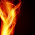 Abstract fire flames on a black background Royalty Free Stock Photos