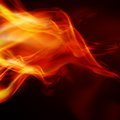 Abstract fire flames on a black background Stock Photo