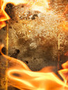 Abstract fire frame Royalty Free Stock Image