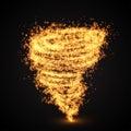 Abstract fire tornado swirl. Vector illutration.