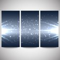 Abstract flash banners set, dark design vector Royalty Free Stock Photo