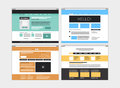 Abstract flat website set Royalty Free Stock Images
