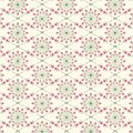 Abstract flora vector pattern. repeating pink flower on circular shape and diamond shape. pattern is clean for facbric, wallpaper