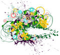 Abstract floral advert Royalty Free Stock Images