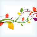Abstract floral autumn background this is file of eps format Stock Photography