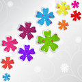 Abstract floral background colorful flowers ornaments Stock Image