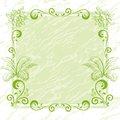 Abstract floral background green frame of flowers Royalty Free Stock Images