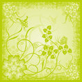 Abstract floral background, grunge, vector Stock Photos