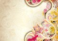 Abstract floral background illustration of in asia style Royalty Free Stock Photo