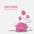 Abstract floral background with lotus pink flowers, oriental