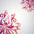 Abstract floral background with oriental flowers. Royalty Free Stock Photos