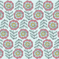 Abstract floral background, summer theme seamless pattern, vector wallpaper, summer texture, wrapping with flowers, spring and Royalty Free Stock Photo