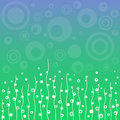 Abstract floral background vector blue green Royalty Free Stock Images