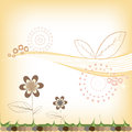 Abstract floral background warm childrens Royalty Free Stock Photography