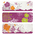 Abstract floral banners Royalty Free Stock Photo