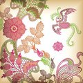 Abstract Floral and Bird Royalty Free Stock Photo