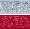 Abstract floral border set Royalty Free Stock Photo