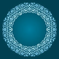 Abstract floral circular frame design Royalty Free Stock Photo