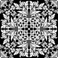 Abstract floral decorative element in black color vector illustr Royalty Free Stock Photo