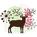Abstract floral deer Royalty Free Stock Photo