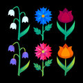 Abstract floral elements gradient bright flower