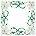 Abstract floral frame. Royalty Free Stock Photos