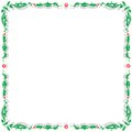Abstract floral frame with flowers and pattern the illustration on a white background Stock Photos