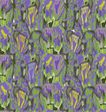 Abstract floral funky seamless pattern. Textured background Royalty Free Stock Photo