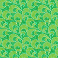 Abstract floral green seamless background Royalty Free Stock Photography