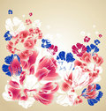 Abstract floral greeting card Royalty Free Stock Photos