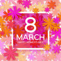 Abstract Floral Greeting card - International Happy Women's Day - 8 March holiday background