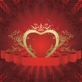 Abstract floral heart Royalty Free Stock Image
